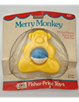 Rare In Package Vintage Fisher-Price Merry Monkey Crib & Playpen Teether and Rattle Toy from 1976 (N