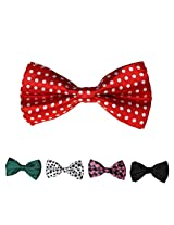 DBFF0012 Various of Colors Satin Boys Boys Pre-Tied Bow Ties Set For Work-Utility - 5 Colors Available By Dan Smith