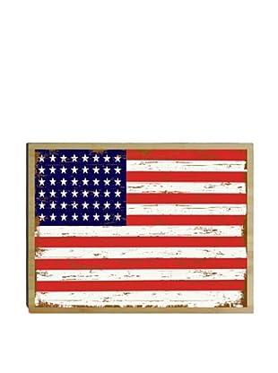 Artehouse American Flag Bamboo Wood Sign