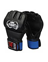 Ring Fight MMA UFC Grappling Gloves Black/Blue Small/Medium