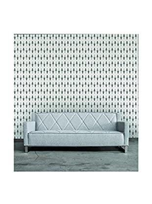 Tempaper Retro Removable Wallpaper, Grey