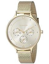 Skagen Anita Chronograph Gold Dial Women's Watch -SKW2313