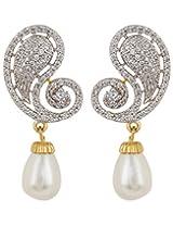 Adwitiya Collection Pearls And Diamonds Earrings for Women