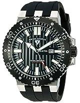 Swiss Legend Men's 10126-01-BB Challenger Black Textured Dial Black Silicone Watch