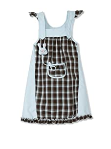 4EverPrincess Girl's Pip Dress (Blue Check)