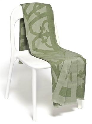 Frette Plaid 87% Merino Wool 13% Cachemere (verde)