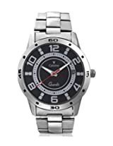 Calvino Men's Black Dial Watch CGAC-141127_SIL-BLK