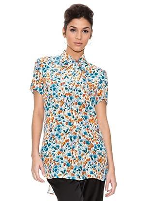 Dolce & Gabbana Camisa Flores (Azul)