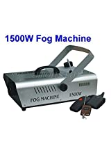 1500W Stage Fogger Fog Smoke Machine with DMX for Disco, DJ party (Remote Controller included)