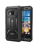 HTC One M9 Case - Poetic Revolution Series - Heavy Duty Dual Layer Complete Protection Case with Built-In Screen Protector for HTC One M9 (2015) Black (3-Year Manufacturer Warranty From Poetic)