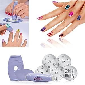 New Professional Nail Art Stamp Stamping Polish Nail DIY Design Kit Decoration