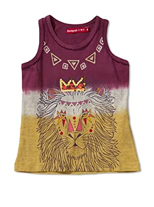 Desigual Camiseta Idaho (Violeta / Gris / Amarillo)