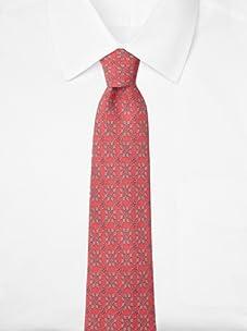 Hermès Men's Chains Tie, Dark Pink/Grey, One Size