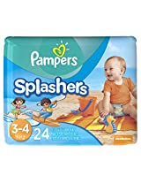 Pampers Splashers Disposable Swim Pants Size 3-4, 24 count (Packaging May Vary)