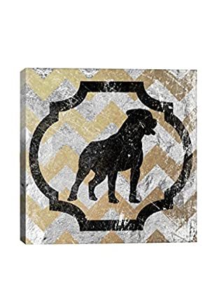 Staffordshire Bull Terrier Yellow & Gray Gallery Wrapped Canvas Print