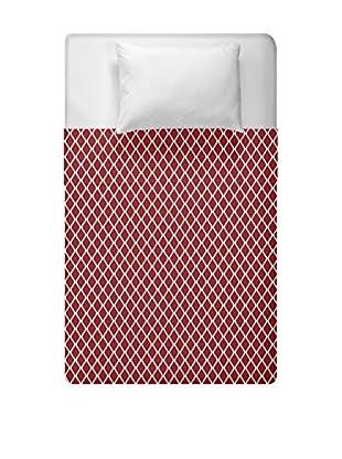 e by design Geometric Duvet Cover (Red)