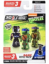 3D Character Creator Teenage Mutant Ninja Turtles Basic Refill Pack Style 1 Novelty Toy
