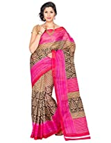 Korni Poly Cotton Saree (Kr0076 _Multi-Coloured)