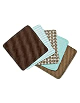 Trend Lab Wash Cloth Bouquet Set, Cocoa Mint