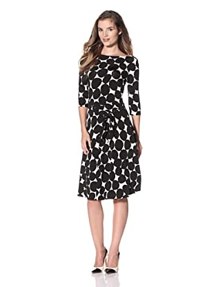 Leota Women's Ilana Dress (White/Black Dot)