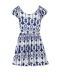 eggi kids Girl's Tie Back Dress (Burnout Blue)