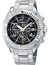 Seiko Chronograph Black Dial Men's Watch - SNA617P1