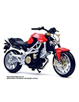 BBURAGO 1:18 APRILIA SHIVER 750 Diecast Motorcycle-RED & BLACK