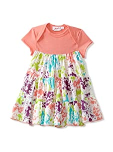 Jupon Baby Alice Overlay Dress (Coral)