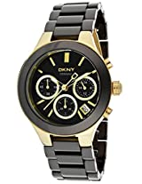 DKNY CERAMIC CHRONOGRAPH BLACK DIAL WOMEN'S WATCH NY4915