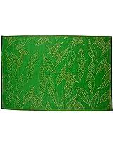 "Agra dari Plastic Rug - 70.98"" x 47.19"" x 0.39"", Green"