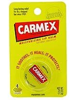 Carmex Lip Balm, For Cold Sores, Moisturizing, Original Formula, 0.25 Oz Jar (Pack Of 6)