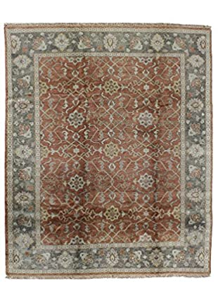Bashian Rugs One-of-a-Kind Hand Knotted Indo-Oushak Rug, Rust, 7' 9