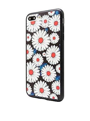 NUEBOO Hülle Flower iPhone 7 Plus schwarz