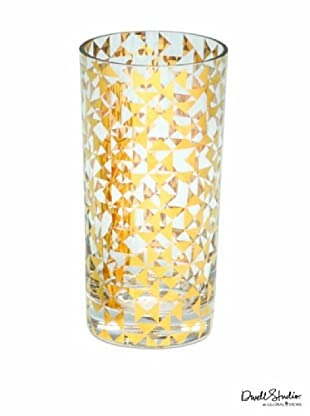 Dwell Studio by Global Views Gold Triangles Drinking Glass, Tall