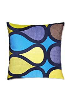 Trina Turk Embroidered Burmese Vine Pillow (Medium Blue)