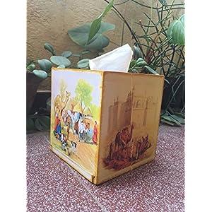 RTKS Creations Tissue Box - Rajasthani Village