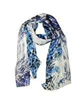 Wrapables Luxurious 100% Charmeuse Silk Long Scarf, Tropical Blue
