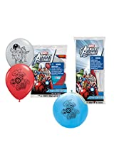 Pioneer National Latex Marvel Avengers Assemble with 6 Balloons/4 Punch Balls, Assorted