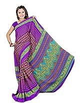 Chinco Saree With Blouse Piece (P1001-C_Purple)