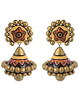 Scorched Earth Ishi Yellow Terracotta Jhumki Earrings for Women