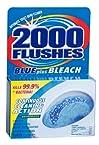 2000 Flushes 208017 Blue Plus Bleach Antibacterial Automatic Toilet Bowl Cleaner, 3.5 oz.