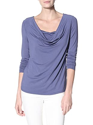 Cullen Women's Drape Neck Top (Manor Blue)