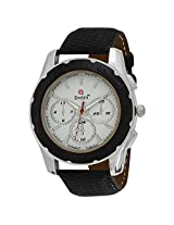 Evelyn Creation Off-White Round Dial Analogue Watch For Men