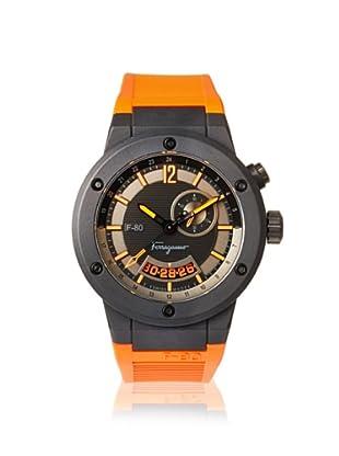 Salvatore Ferragamo Men's F55LGQ6876 SR62 F-80 Black Carbon Fiber and Orange Rubber Watch