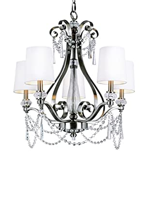 Trans Globe Lighting Metropolitan Chic 5-Light Chandelier, Brushed Nickel
