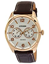 Citizen Eco-Drive Analog White Dial Men's Watch - AO9024-08A