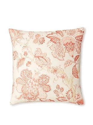 The Pillow Collection Yette Toile Decorative Pillow (Shrimp)