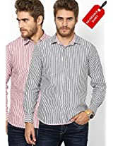 Red Striped Casual Shirt Pepe Jeans