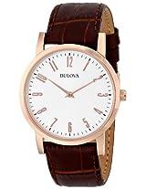 Bulova Classic Analog White Dial Men's Watch - 97A106