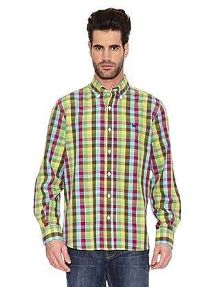 Toro Camisa Estampada Cuadros (Verde)